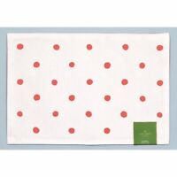 """Kate Spade Charlotte Street 13"""" x 19"""" Hot Coral Placemat 100% Cotton + FREE gift"""