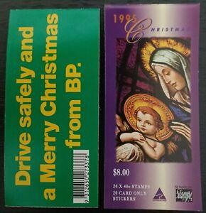 1995 Booklet $8 Christmas XMAS - BP advertising on back - FREE Post