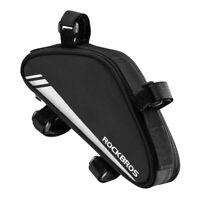 RockBros Cycling Bicycle Frame Bag Bike Triangle Bag Black Capacity 0.7L