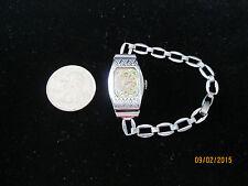Vintage Art Deco Nouveau Silver Plated Ladies Helbros Swiss Dress Wristwatch