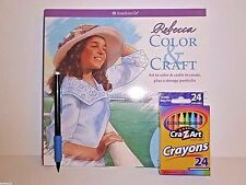 AMERICAN GIRL REBECCA COLOR & CRAFT ACTIVITY BOOK +  24 PACK CRAYONS & PENCIL
