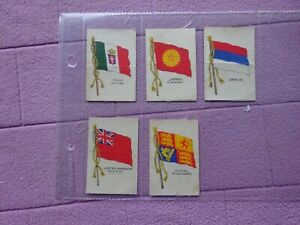 GALLAHER - FLAGS ( SILK ) x 5 DIFFERENT