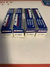 """SET OF 4"" AC Delco 41-963 Spark Plug Double Platinum Professional LOT OF 4"