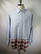 E8179 VTG 90s TOMMY HILFIGER Long Sleeve Plaid Shirt Size XL
