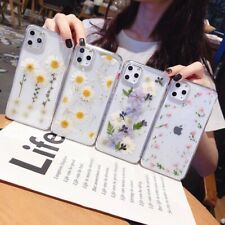 Fashion Floral Flower Pattern Clear Phone Case Cover For iPhone11Pro 7 8+ XR XS