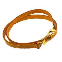 LOUIS VUITTON Logos Shoulder Strap Brown Leather Handbag Accessories 31097