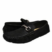 Men's Shoes Aldo Rossini LEO 3 Horse Bit Slip On Loafers 91765 BLACK