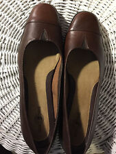 "Shoes, BY DUCK HEAD, genuine brown leather, loafer type, 1 1/4"" heel 10M"