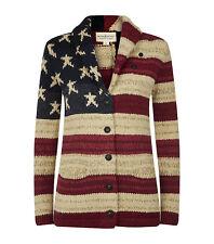 NEW $225 Ralph Lauren Denim and Supply Heavy USA Flag Cardigan- Womens- M