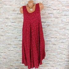 MADE IN ITALY Hängerchen Kleid Sommerkleid Blümchen Mille Fleur wein-rot 40-44