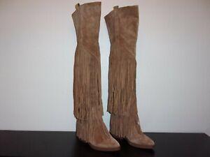 """Ladies A S H  Leather Fringe Boots 24""""   Sz. 5    Reg. $498.00     Now $100.00"""