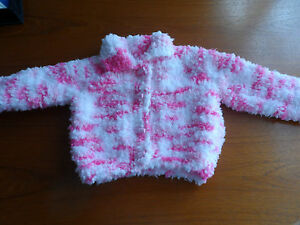 hand knitted baby girl cardigan 3-6months