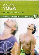 Body Target Yoga Media Set (DVD, 2006, 3-Disc Set) Rodney Yee, Suzanne Deason