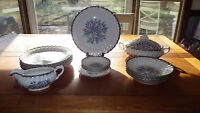 Belvidere Platinum by Royal China Vintage China Dinnerware Set 20pcs 1950