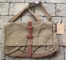 American Eagle Outfitters AEO Canvas Messenger Bag w/ Leather Trim New With Tags