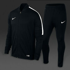 db4111e1c5c8 Nike Boys Kids Junior Football Tracksuit Full Training Tops Bottoms Suit  Black