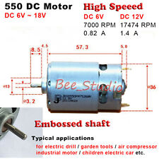DC 6V~18V 12V High Speed Power Large Torque RS-550 DC electric Motor for Toy Car