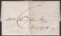 1830 PRE-STAMP ENTIRE TO DEVIZES - MANUSCRIPT '6' & HUNGERFORD UNDATED CANCEL