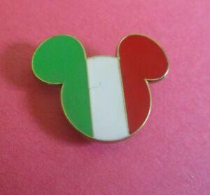 Flag of Italy- Mickey Head & Ears DLRP Disney Pin