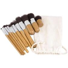 11x Wooden Make up Brush Makeup Brushes Eyeshadow Eyeliner Powder Foundation Set