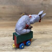 Vintage Disney MCF Classic Winnie Pooh Resin RARE Ornament Eeyore Riding Cart
