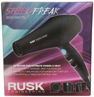RUSK SPEED FREAK CERAMIC TOURMALINE HAIR DRYER HAIR BLOWER 2000 WATTS NEW