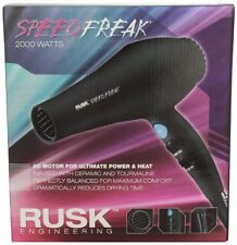 RUSK ENGINEERING BLACK SPEED FREAK PROFESSIONAL 2000 WATTS HAIR DRYER