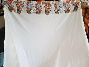 Vintage paddington Bear OOAK Double Sheet 100% Cotton