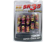 MUTEKI SR35 20PCS WHEELS TUNER LUG + LOCK NUTS (CLOSE END/12X1.25/NEON CHROME)