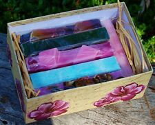 DELUX GIFT PACK BOX 6 HAND MADE ORGANIC & NATURAL SOAPS ESSENTIAL OILS birthday