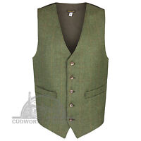 """Cudworth of Norden Classic Derby Tweed Waistcoats - Sizes 36 to 52"""" - 3 Colours"""