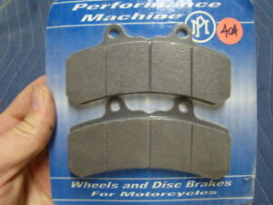 EP404 Performance Machine brake pads 4 Harley FXR XL FL