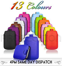 Premium PU Leather Pull Tab Pouch Case Cover For Various Nokia Phones