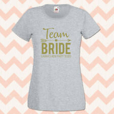 Hen T Shirts Team Bride Gold Personalised Hen Do Tops