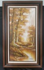 Oil on Canvas Painting of Autumn Woods by Artist Schiller Signed