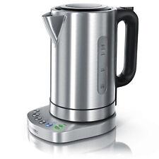 Arendo Edelstahl Wasserkocher mit Temperaturwahl   1,7l   3000 Watt