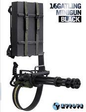 1:6 ZY Toys Model Black M134 Heavy Machine Gun Minigun TERMINATOR Gatling 8018