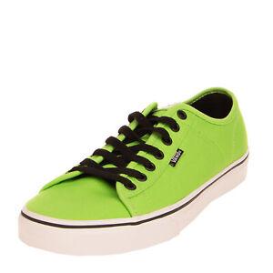 VANS FERRIS Canvas Sneakers Size 40.5 UK 7 US 8 Grommets Logo Low Top Lace Up