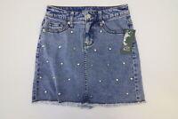 New Wild Fable™ Blue Light Wash Women's Studded Denim Mini Skirt Size 10