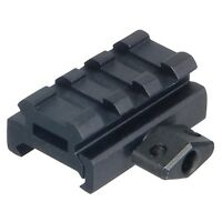 """UTG MNT-RS05S3  Low-Profile Compact Riser Mount, 0.5"""" High, 3 Slots"""