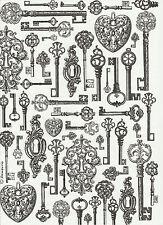 Carta di riso per Decoupage Decopatch Scrapbook Craft sheet BLACK & WHITE TASTI