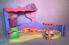 LPS Littlest Pet Shop Basic Playset Pet Bakery Set Bunny Green Flower Eyes #488