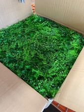 24 pieces Green Artificial Fern and Boxwood Leaves Wall Backdrop Panels Wedding