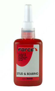 FORCE BRAND-STUD & BEARING ADHESIVE RED X60340 50ML BOTTLE X 1