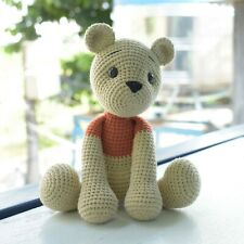 Bear Crochet Pooh Amigurumi Bear Handmade Stuffed Bear Plush Toy High Quality