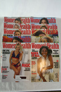 Lot of 10 -  Women's Health Magazines  - March 2019 thru Jan/Feb 2020