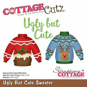 New Cottage Cutz Metal Cutting Christmas Die Ugly But Cute Sweater CC-526
