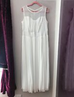 Scarlett & Jo Ivory  Mesh Yoke Long Wedding / Prom  Dress size 12-32 (fault)£160