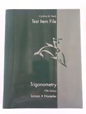 Trigonometry 5th Ed. Larson Hostetler 2001 Test Item File 0618072802 USED