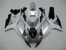 Fit for Suzuki GSXR 600 750 06-07 New Fairing White Silver Black Injection g11